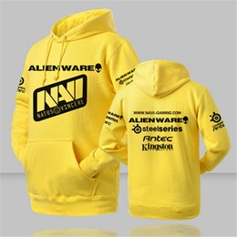 Wholesale Dota Hoodie - Wholesale- High 2016 Quality Ukraine Dota 2 Team Natus Vincere Navi Printed Men Hoodies Hip Pop fitness Sweatshirt Plus Size Tracksuits