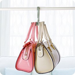 Wholesale Women Handbag Rack - 2pcs lot Rotating Closet Hooks Storage Rack Organizer Hanger Holder for Women Handbag Belt Tie Scarf