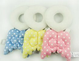 Wholesale Neck Protection Pillow - Wholesale- Baby Head Protection Pad Toddler Headrest Pillow Baby Neck Cute Wings Nursing Drop Resistance Cushion Guards