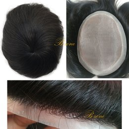 Wholesale Hair Replacement Man - Mono based Tansparent PU Around Toupee 6x8 7x9 Men Quality Hair Piece Replacement System Natural Hairline