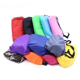 Wholesale Toy Hammocks Wholesale - 240*70cm Fast Inflatable Lazy Couch bag Air Sleeping Bag Outdoor Play Portable Air Sofa Beach Bed Air Hammock Nylon Banana Sofa Lounger