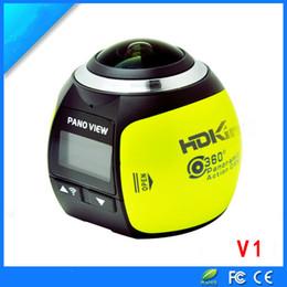 Дорожный регистратор данных онлайн-Wholesale- 360 panoramic camera traveling data recorder VR virtual reality motion camera digital camera 360 movement DV