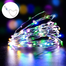 2019 luci fiabe indoor LED Fairy String Lights Indoor Outdoor 16FT 33FT 50 LEDs 100 LEDs USB Powered Light String per decorazioni natalizie in camera da letto luci fiabe indoor economici