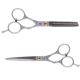 Wholesale Professional Hairdressing Hair Scissors - Wholesale- Professional hairdressing scissors set 6 inches beauty salon cutting thinning hair shears barbershop hair styling tools