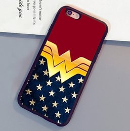 Wholesale Shell Logo - Wonder Woman Logo Printed Soft TPU Mobile Phone Cases OEM For iPhone 6 6S Plus 7 7 Plus 5 5S 5C SE 4S Back Shell Cover