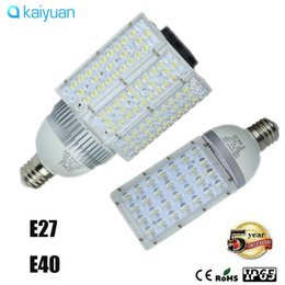 Wholesale E26 Led Light Corn - 4PCS free ship CREE E40 E27 E39 E26 LED Street Light 28w 30w 40w 50w 60w 80w 100w Led corn lights bulbs Garden Road Lighting LampS