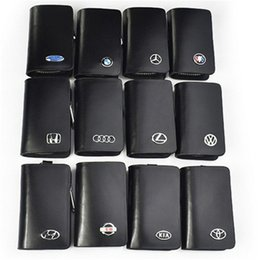 Wholesale Bmw Leather Key Cover - Genuine Leather car Key case for Lexus Audi Mercedes Peugeot Toyota Vw Skoda Bmw Hyundai Protective car key Covers case bag
