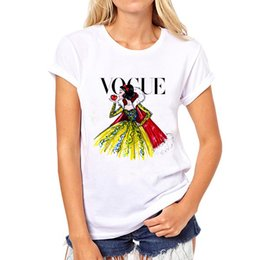 Wholesale Wholesale Hipster Clothes - PH Brand clothing t shirt women Tattoo Vogue Princess Print Cotton Casual Shirt For Lady White Top Tee Hipster Big Size