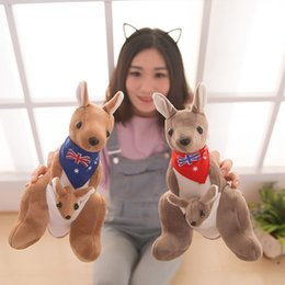 "Wholesale Toys Kangaroos - EMS New 2 Styles 10"" 25CM Australia Kangaroo Doll Cute Animals Toy Kangaroo Mother And Her Baby Plush Dolls Gifts Soft Stuffed Toys"