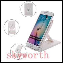 Supporto da tavolo registrabile online-2018 di alta qualità universale caricatore wireless Qi regolabile pieghevole supporto del basamento del bacino per Samsung S7 S8 Edge Plus Nota 8 Iphone 8 X