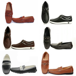 Wholesale Heels Caps - 2017 Free shipping Wholesale High Quality brand Fashion shoes Men's Low Retro Breathable Casual moccasins Lace-Up Dress Shoes Size:7-13 ST