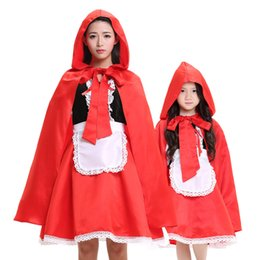 Wholesale Dress Red Riding Hood - Women Little Red Riding Hood COSTUME Fancy Dress Hens Party HALLOWEEN Outfit