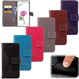 Wholesale Cover Photo New Flower - New Luxury Flower Wallet PU Leather Case Cover Pouch With Card Slot Photo Frame For Iphone 7 7plus Samsung Galaxy S7 DHL