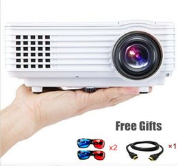Wholesale 3d Projector Cheap - Wholesale- 2015 Newest Cheap HD home cinema Projector HDMI LCD VGA LED Game PC Digital Mini Projectors 1080P Proyector 3D Beamer