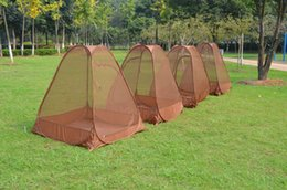 Wholesale Pop Up Tents - Wholesale- Hot on sale single person automatic speed to open anti mosquito net tent,pop up tent automatic, sit in meditation tent,yoga tent