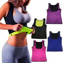 Wholesale Slim Body Women S - Thermo Sweat Hot Neoprene Body Shaper Slimming Waist Trainer Cincher Yoga Vest