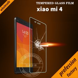 Wholesale Edge Protectors For Shipping - Wholesale-Wholesale 2.5D round edge 9H Tempered Glass Screen Protector for Xiaomi Mi 4 Mi4 Film anti-oil, anti fingerprint Free Shipping