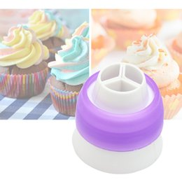 Wholesale Icing Decorator Bags - Coupler Russian Pastry Bags Tip Nozzles Cake Decorating Icing Sugarcraft Adaptor Cream Decor Tool Piping Bag Converter