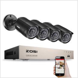 cctv sistemas dome exterior Desconto ZOSI Sistemas de CCTV 1080N / 720 P Sistema De Segurança De Vídeo DVR gravador com 4x HD 1280TVL Indoor / Outdoor À Prova de Intempéries CCTV Câmeras