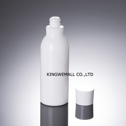 Wholesale Ceramic Lotion Bottles - wholesale 300PCS 150ml white glass bottle with white lid, ceramic glass lotion bottle,empty 150 ml Cosmetic glass bottle