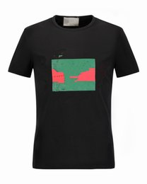 Wholesale Men Fashion Short Shirts - 16505 Runway Fashion Letter Print Men's Casual Cotton short sleeve T Shirts Slim with tags M-3XL