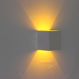 Canada Nouveau aluminium Livraison Gratuite Applique Murale 3W Rouge Vert Jaune Violet Bleu Cool Chaud Blanc Lumière LED Mur Lampe Allée Escalier Sconce ROUDA Offre