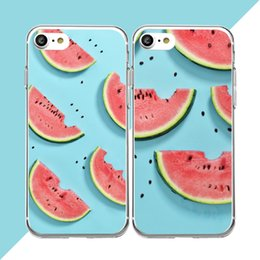 Wholesale Manufacturers Mobile Phone Case - For iphone 8 watermelon for iphone7 mobile phone shell summer series for iphone 6s plus mobile phone manufacturers wholesale phone shell