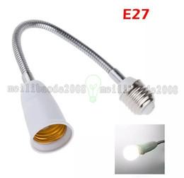 Wholesale Bulb Desk Lamp - 2017 NEW New 60CM Extend Flexible E27 To E27 Base LED Light Adapter Converter Socket For Led globe bulb   Led Desk Lamp MYY