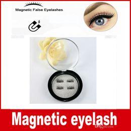 Wholesale Eyelash Extension Individual Black Fake - Factory price 3D Magnetic False Eyelashes Extension Magnetic Eyelashes Makeup Soft Hair Magnetic Fake Eyelashes with retail packaging