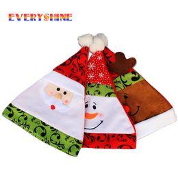 Wholesale Deer Hats Children - Christmas Hats Caps 1pcs High Quality Gorro Soft Plush Adult Children Snowman Santa Claus Deer Cap Christmas Gif Hats Sd34