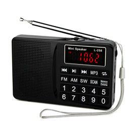 Wholesale Mini Portable Multimedia - Wholesale-Radio FM AM SW Radio Recorder Bass Sound MP3 Music Player Multimedia Mini Speaker Portable Radio Y4405A