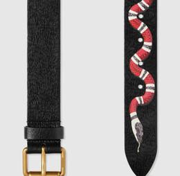 Wholesale Ceinture Genuine Leather - Hot Black color Luxury High Quality Designer Belts Fashion snake animal pattern buckle belt mens womens belt ceinture G optional attribute