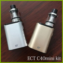 Wholesale Electronic Cigarette Pen Mod - original ECT C40 mini 40W e cigarette Box Mod Starter Kits 2.0ml kenjoy Elfin 0.3ohm vaporizer 1800mah electronic cigarette vape pens