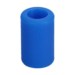 Wholesale Soft Silicone Tubes - Wholesale- high quality 1Pc Soft-Silicone Tattoo Grip Cover For Tattoo Machine Supply Tube Reusable Holder Autoclavable Blue