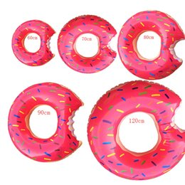 Wholesale Inflatables For Pools - Summer Doughnut Design Style Swimming Rings 60-120cm Size For Adults and Children Inflatable Floats Swim Ring Beach or Pool Swim Toy