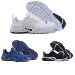 Wholesale Fine Black Men - Original Air Presto BR QS Women Men Running Shoes Fine Mesh Mesh Breathable Cheap Sneaker Red Blue Triple White Black eur36-46
