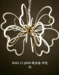 Wholesale Modern Gold Chains - butterfly morden pendant lights for house hotel kitchen mall living room bedroom