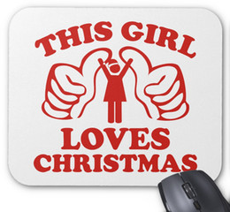 Wholesale Girls Mouse Pad - Mouse Pad(Xueyu), This Girl Loves Christmas Non-Slip Computer Accessories Mouse Pad,9*7.5 inch,Pack of X
