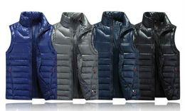 Wholesale S Pad - 2017 New Winter Men's Ultra Light Down Vest Men 90% White Duck Down Padded Winter Waistcoat Couples Branded Down Vest Men & Women Coats