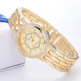 Wholesale Titanium Dress Watches - Luxury Designer Women rhinestone Diamonds watches fashion gold quartz wristwatches ladies dresses Famous Brand watch gifts for girls new