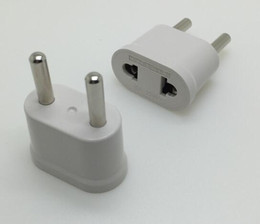 2019 plug eu au travel white US USA vers Europe EURO Europe Travel Power Plug Adapter Convertisseur de chargeur pour USA convertisseur Blanc