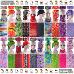Wholesale Assorted Sports - Free Shipping 10pcs lot Assorted Flowers Fashion Women Design Microfiber Breathable Seamless Multifunction Headwear Tubular Sports Bandanas