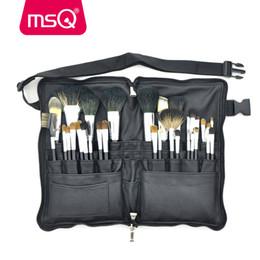 Wholesale Makeup Kit 32pcs - MSQ Makeup Brushes Set Pro 32pcs High Quality Soft Animal Hair Foundation Eyeshadow Make Up Brush Kit With PU Leather Belt Case