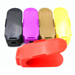 Wholesale Free Hair Supplies - Home Furnishing Supplies Integrated Storage Rack Type Thickening Simple Plastic Cute Solid Color Indoor Shoe Rock Free Shipping