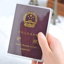 Wholesale Cover For Passport - Size 13.5*19cm PVC Transparent Dull Polish Passport Cover Clear Card ID Cover Case For Travelling Passport Bags