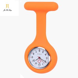 Wholesale Silicone Watch Waterproof 3atm - Wholesale-Jelly Bean Nurse Watch 3ATM Waterproof Pocket&Fob Watches Silicone Case Quartz Analog Watch