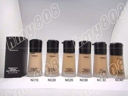 Wholesale Mineralize Foundation Spf15 - HOT Makeup Face Mineralize Moisture Foundation Liquid Spf15 30ML +gift