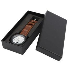 Boîte de montre-bracelet en papier cadeau noir / rouge / bleu Boîte de montre pour montre EVA oreiller Boîte de rangement pour montre montre Boîte de rangement ? partir de fabricateur
