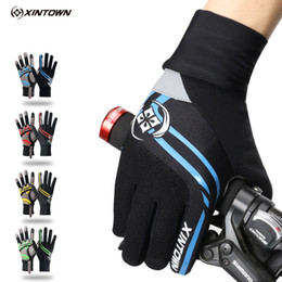 Wholesale Winter Yoga Wear - Outdoor sports riding full finger touch screen gloves thickening wear resistant breathable comfortable pad high-grade gloves