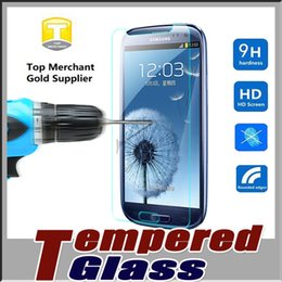 Wholesale Edged Glasses - Tempered Glass Screen Protector Film Guard 9H Hardness Explosion Shatter Film Protector For iPhone 7 plus 6S SE Samsung S8 S7 edge Note 5